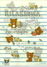 Rilakkuma - Stripes with your days. Enjoy & Relax (แฟ้มใส่เอกสารขนาด A4)