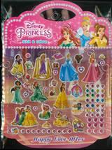 Disney Princess Happy Ever After Stick & Colour + สติ๊กเกอร์ 3D