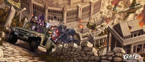 ปกพิเศษ - GATE เกท – หน่วยรบตะลุยโลกต่างมิติ เล่ม 03 ภาคกลียุค Gate 3 : UPHEAVAL